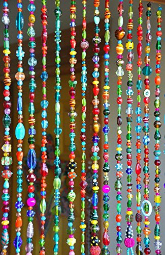 Multicolour Crystal Beaded Hanging Bohemian Wall Art | RasmyHomeDecors
