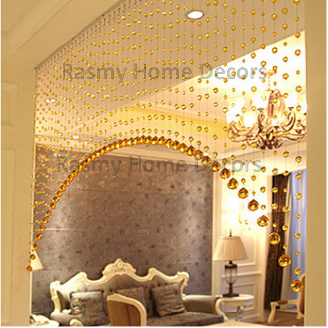 Arch Shape Golden Crystal String For Partition Spaces For