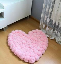 Pom Pom Rug Pompom Area Rug Bedroom Rug Bath Rug Washable Rug